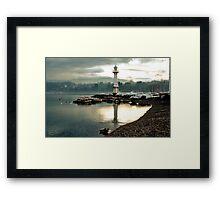 Lighthouse Jette Bains des Paquis Geneva Framed Print