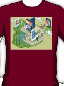 Isometric Virtual Shopping Concept T-Shirt