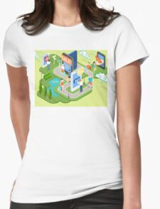 Isometric Virtual Shopping Concept Womens Fitted T-Shirt