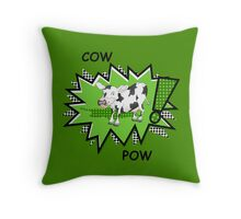 Cow Pow Throw Pillow