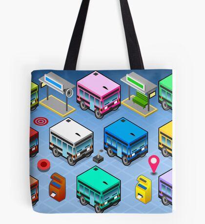 Isometric Rainbow Buses  Tote Bag