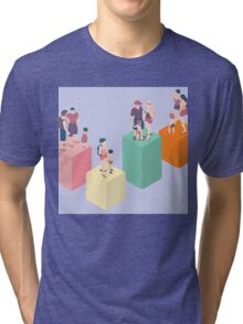 Isometric Infographic Family Types - LGBT included Tri-blend T-Shirt