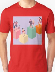 Isometric Infographic Family Types - LGBT included Unisex T-Shirt
