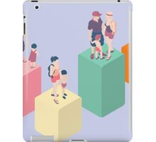 Isometric Infographic Family Types - LGBT included iPad Case/Skin