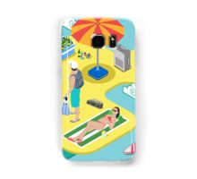 Isometric Beach Life - Summer Holidays Concept  Samsung Galaxy Case/Skin