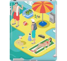 Isometric Beach Life - Summer Holidays Concept  iPad Case/Skin