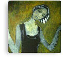 Girl in the door Canvas Print