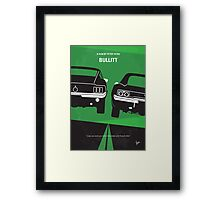 No214 My BULLITT minimal movie poster Framed Print