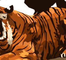 Troubled Tiger Sticker