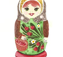 Russian Doll With Strawberries by Courtney Carlson