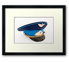 USSR Airforce officer cap with badges Framed Print