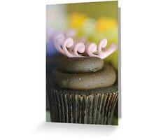 .raspberry & chocolate cupcake. Greeting Card