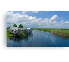 Midway fish camp Canvas Print