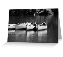 Canoes on the Chattahoochee River Greeting Card