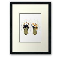 Tigerheads Framed Print