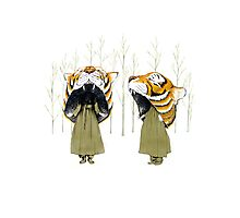 Tigerheads Photographic Print