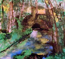 My  Painting    of /   The Little Bridge, Pontoise  /       (  My Paintings  ) by John Todaro