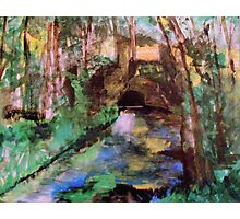 My  Painting    of /   The Little Bridge, Pontoise  /       (  My Paintings  ) Photographic Print