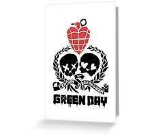 Green day Logo Greeting Card