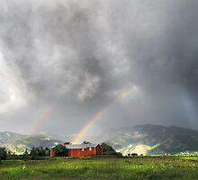 Rainbow Dark on the Bridgers by Kay Kempton Raade