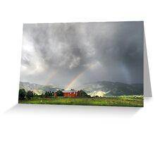 Rainbow Dark on the Bridgers Greeting Card