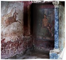 Pompeii - First-century AD wall painting Poster
