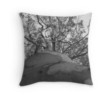 Grey Old Gum Tree Throw Pillow