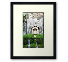 House of the Small Pagan Fountain Framed Print