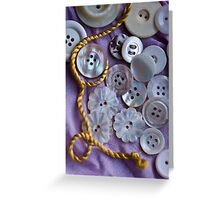 Buttons and Thread Greeting Card
