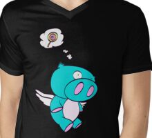 Lollipig Mens V-Neck T-Shirt