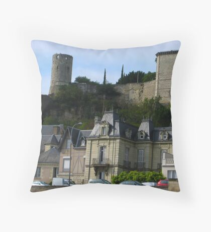 Counterpoised 18th and 15th Centuries Chinon France Throw Pillow
