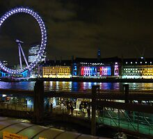 London Eye At Night by Al Bourassa