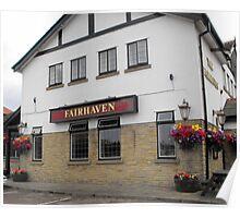 The Fairhaven Pub at Lytham St Annes, Lancashire. Poster
