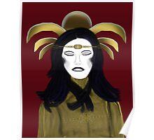 Seraphim in Repose - Burgundy Background Poster