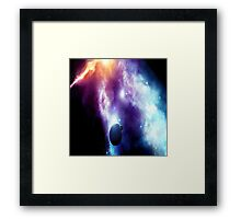 Colorful Space Framed Print
