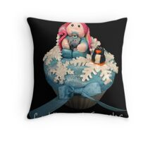 Winter Baby Cupcake Throw Pillow
