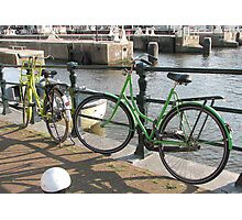Bicycles in green Photographic Print