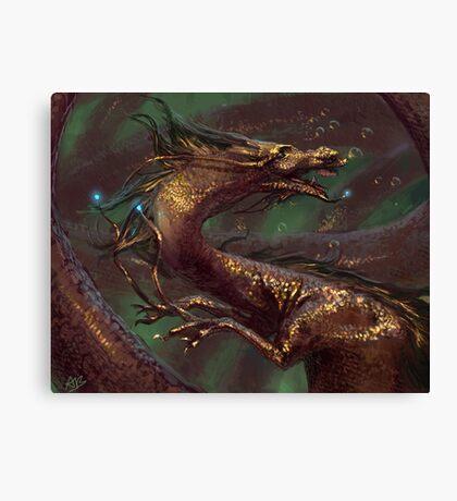 Aquatic Orient Canvas Print