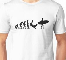 Surf evolution 2 Unisex T-Shirt
