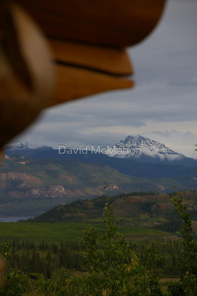 Mountain Paradise, As Seen From A Log Chalet by David McMahon