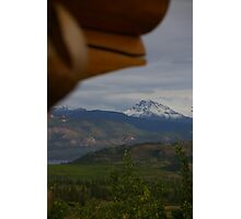 Mountain Paradise, As Seen From A Log Chalet Photographic Print