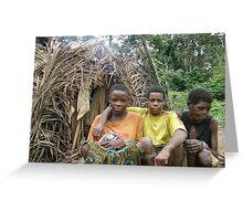 Pygmee Cameroon Greeting Card