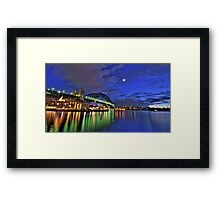 Starlight Star Bright - Moods Of A City Sydney Harbour - The HDR Experience Framed Print