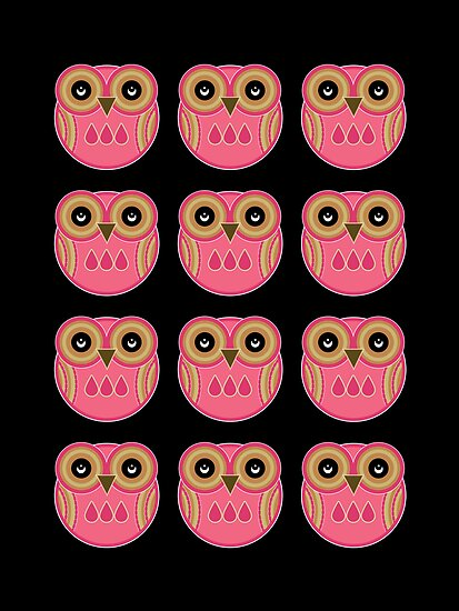 Pink Owls by Louise Parton