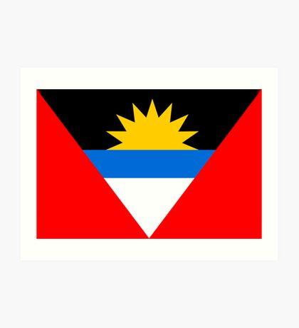 Antigua & Barbuda, national id Art Print