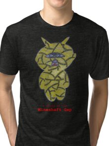 a child of the mineshaft gap - black and white Tri-blend T-Shirt