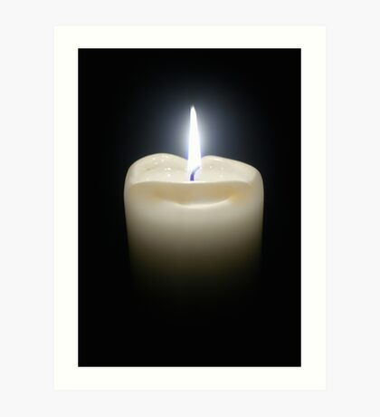 Candle Flame. Art Print