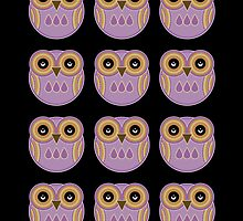 Purple Owls by Louise Parton