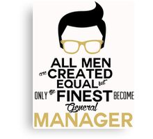 General manager t-shirts Canvas Print