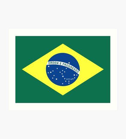 Brazil, national id Art Print